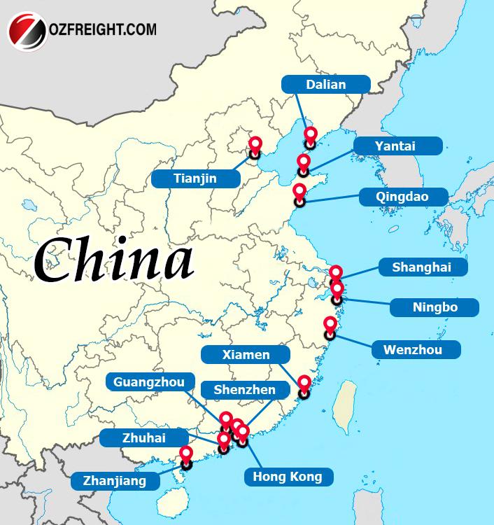 Các cảng biển lớn của Trung Quốc